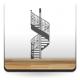 Escalera de Caracol adhesivo decorativo ambiente