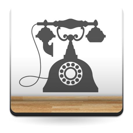 Teléfono Antiguo imagen vinilo decorativo