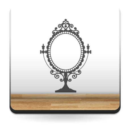Espejo Clásico decoración con vinilo