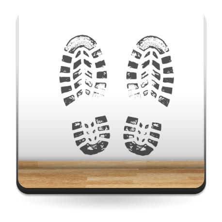 Huellas Zapatos imagen vinilo decorativo