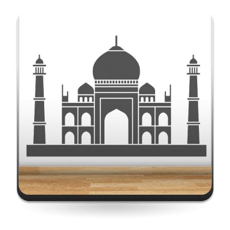 adhesivo decorativo Taj Mahal Motivo