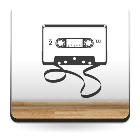 Cassette para Cabecero imagen vinilo decorativo