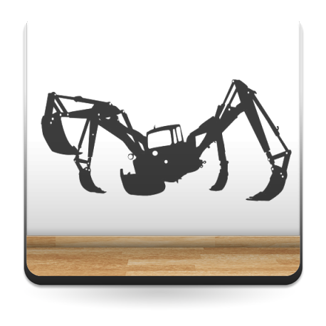 Grúa Araña adhesivo decorativo ambiente