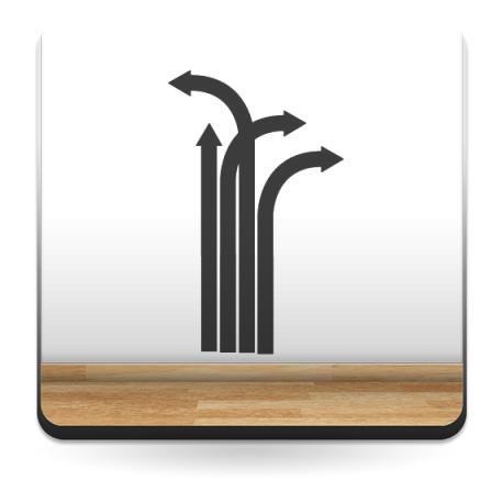 vinilo decorativo Flechas Desviadas