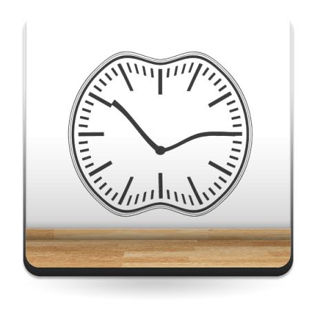 Reloj Ondulante I imagen vinilo decorativo
