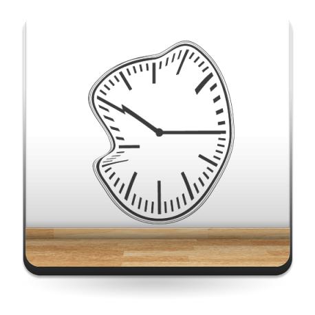 Reloj Ondulante II decoración con vinilo