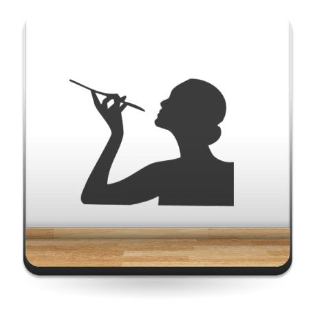 vinilo decorativo Mujer Fumando
