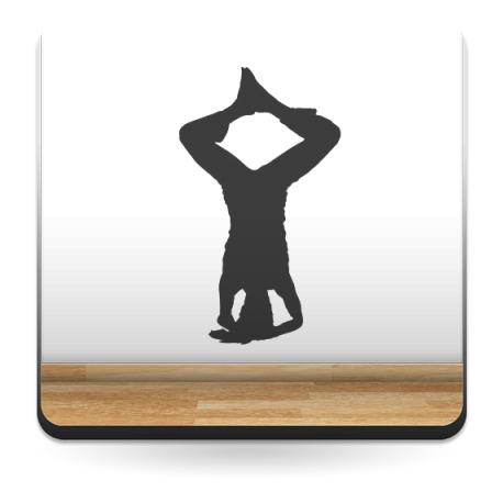 Yoga Postura IV imagen vinilo decorativo