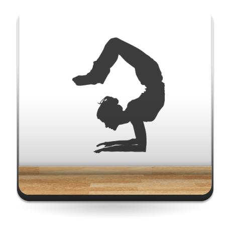 Yoga Postura V decoración con vinilo