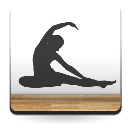 pegatina decorativa Yoga Postura VI