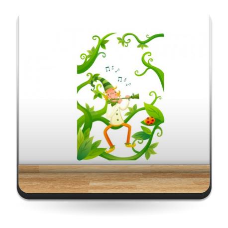 Alfy Flautista para Armario adhesivo decorativo ambiente