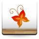 pegatina decorativa Mariposa Naranja Colección Alfy