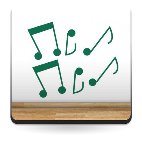 vinilos imagen producto Notas Musicales Colección Alfy