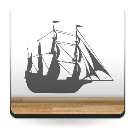 pegatina decorativa Barco Motivo II