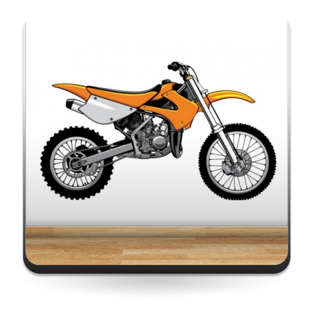 adhesivo decorativo Moto de Cross