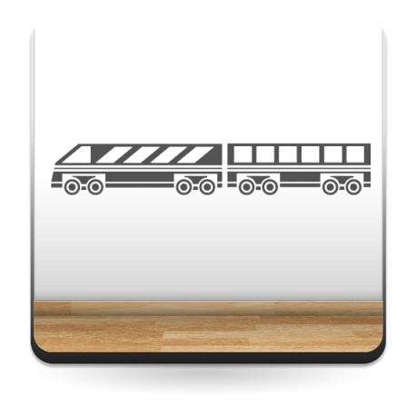 Tren Motivo decoración con vinilo