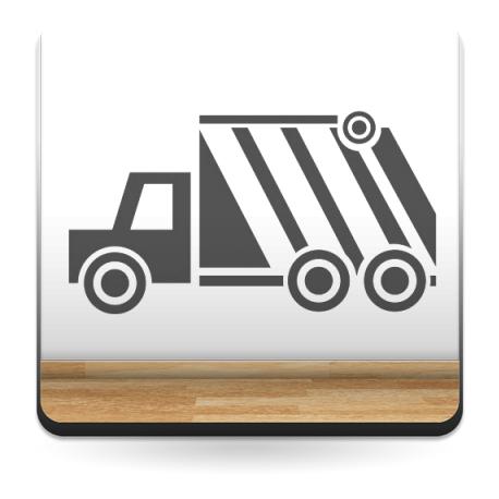 Camión de la Basura Motivo imagen vinilo decorativo