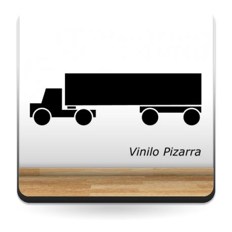 Pizarra Camión decoración con vinilo