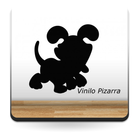 vinilo decorativo Pizarra Perrito