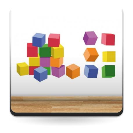 vinilos imagen producto Cubos Construcción Colores