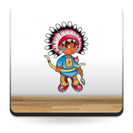 pegatina decorativa Hugo el Indio