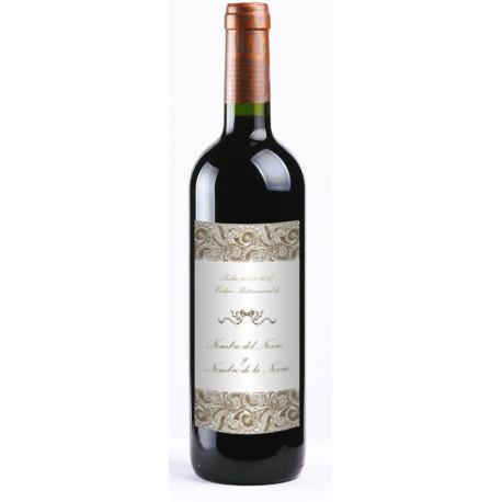 """Etiqueta Vino """"Elegance"""" 20UDS decoración con vinilo"""