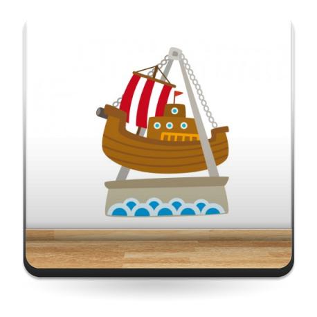 pegatina decorativa Barco Vikingo Atracción