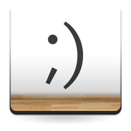 adhesivo decorativo Emoticono Guiño Sonrisa