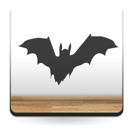 Murciélago decoración con vinilo