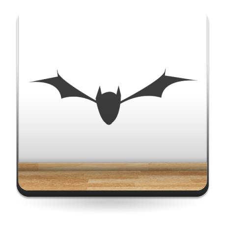 Murciélagos Casa Terror imagen vinilo decorativo