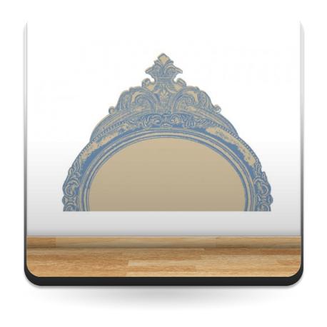 Enmarcado Luis XV imagen vinilo decorativo