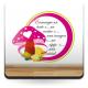 adhesivo decorativo Marco Infantil Hongos Rosa