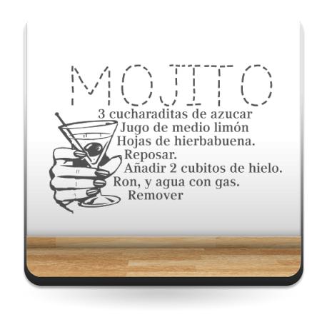 Receta Mojito decoración con vinilo