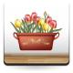 Tulipanes Maceta imagen vinilo decorativo