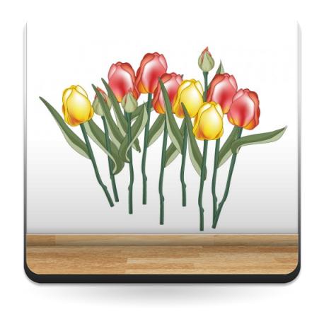 Tulipanes Cortados Ramo producto vinilos