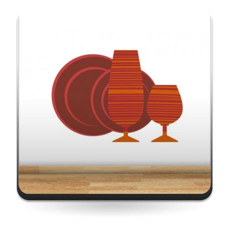 pegatina decorativa Vajilla Naranja