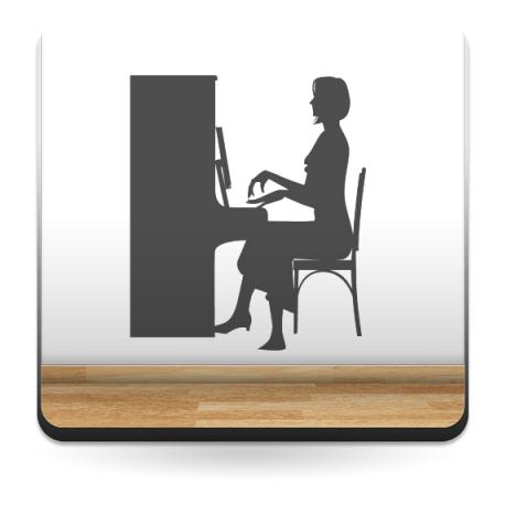 adhesivo decorativo Clase de Piano