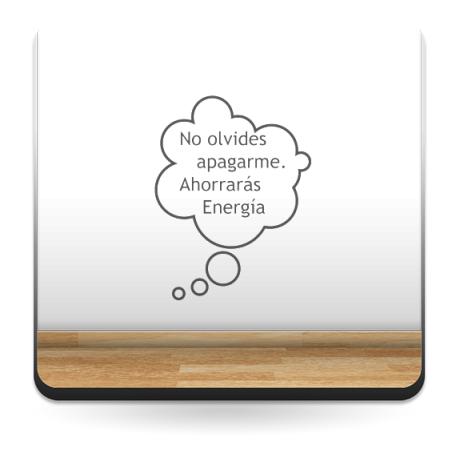 pegatina pared Ahorro de Energía