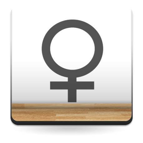 Símbolo Mujer producto vinilos
