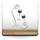 pegatina decorativa Vinilo Copas Vino