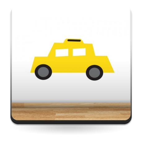 vinilos imagen producto Infantil Coches Ciudad Taxi