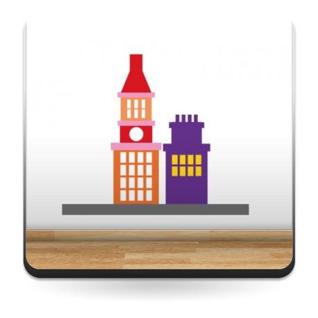 vinilos imagen producto Infantil Coches Ciudad Edificios III