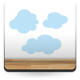 pegatina pared Infantil Coches Ciudad Nubes