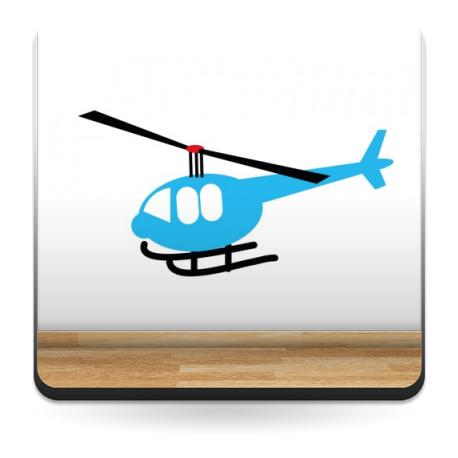 vinilos imagen producto Infantil Coches Ciudad Helicoptero