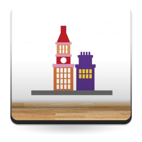 Infantil Coches Ciudad Edificios IV producto vinilos
