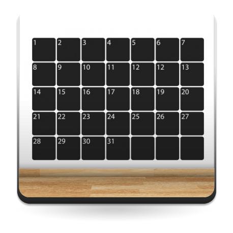 Pizarra Agenda Mensual imagen vinilo decorativo