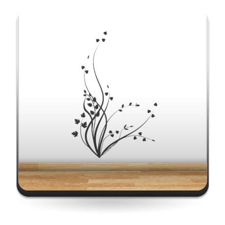 pegatina pared Arbusto