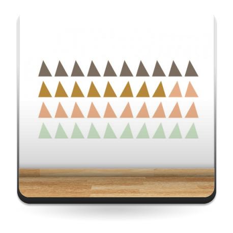 Triángulos Colores adhesivo decorativo ambiente