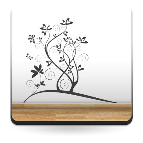 Corazones Flor imagen vinilo decorativo