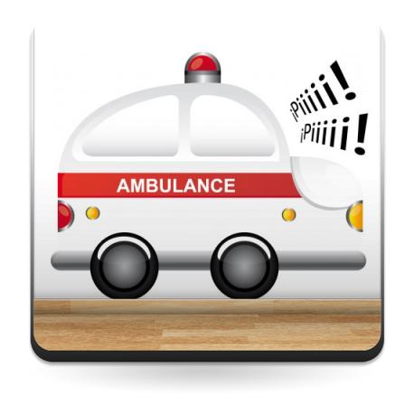 adhesivo decorativo Ambulancia